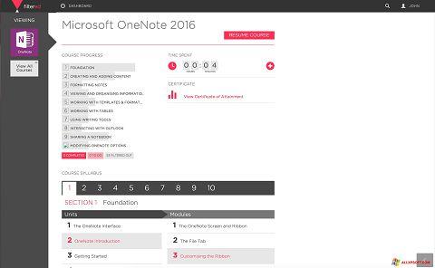 Screenshot Microsoft OneNote for Windows XP
