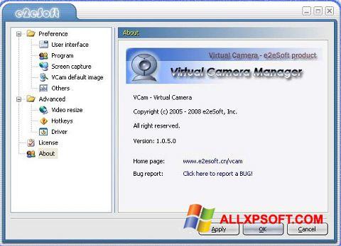 Screenshot VCam for Windows XP
