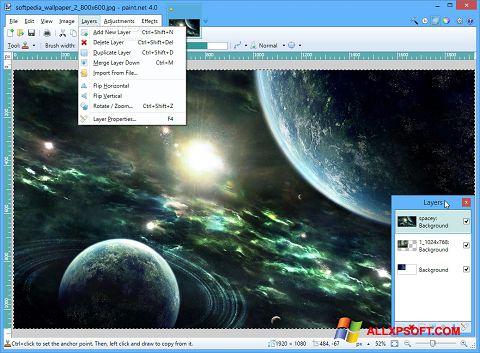 Screenshot Paint.NET for Windows XP